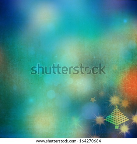 Beautiful Christmas background with Christmas tree - stock photo