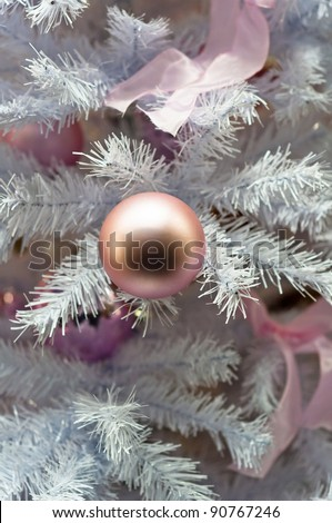 Beautiful Christmas background with white tree