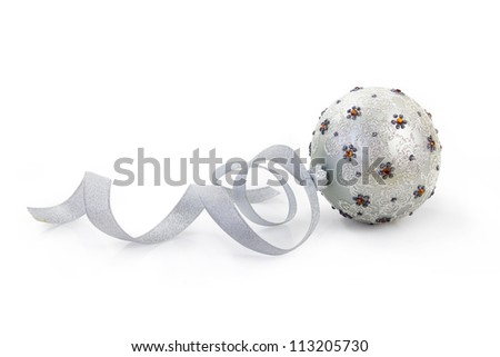 beautiful christmas ball with detailed clipping path - stock photo