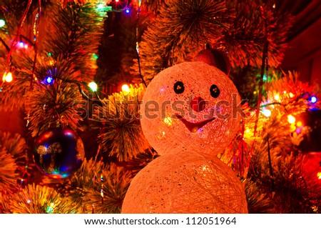 Beautiful Christmas fur-tree - stock photo