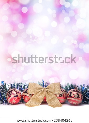 Beautiful Christmas holiday decorations. New Year's Eve. Festive Christmas decorations. Christmas background - stock photo