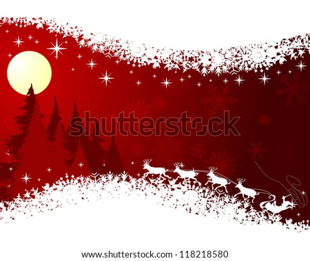 Beautiful Christmas (New Year) card.  Raster version. - stock photo
