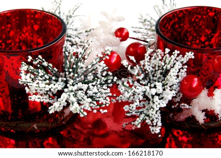 Beautiful Christmas ornaments decoration, a Christmas gift - stock photo