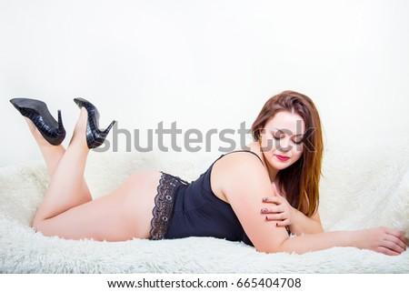 Chubby white woman