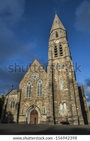 Beautiful church in Ireland - stock photo