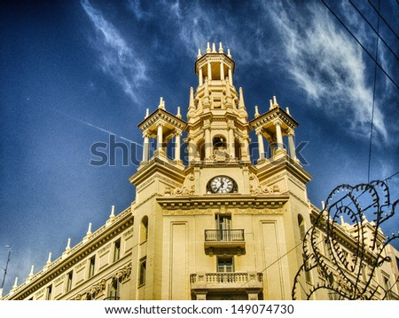 Beautiful cityscape of Valencia, Spain. - stock photo