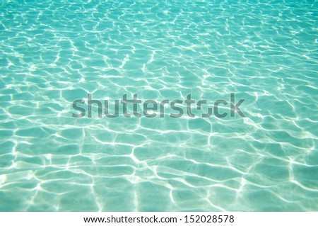 Beautiful clear underwater surface