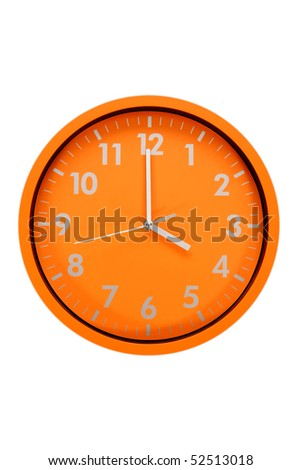 beautiful clock on the wall (16h, 4h00) - stock photo