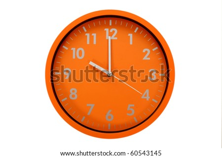 beautiful clock on the wall, 10h, 22h00 - stock photo