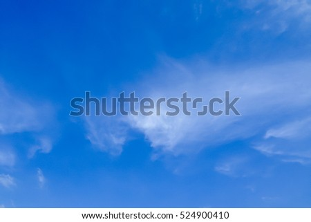 beautiful closeup tiny cloud with clear blue sky