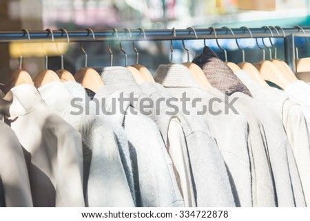 Beautiful Clothes in shopping store