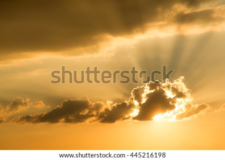 Beautiful cloud with sunray