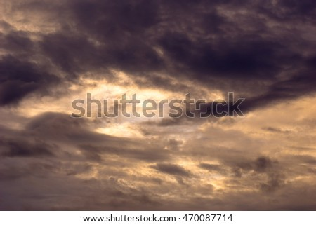 beautiful clouds and sky for background