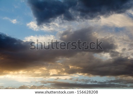 beautiful clouds as background