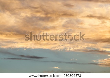 beautiful clouds at sunset