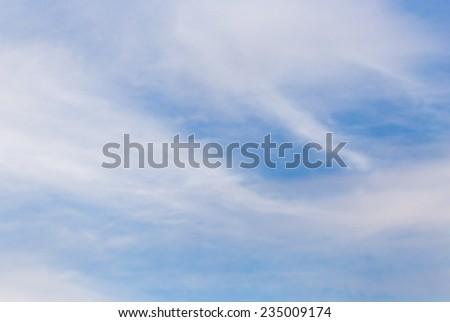 beautiful clouds at sunset - stock photo