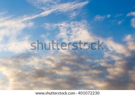 beautiful clouds dawn sun - stock photo