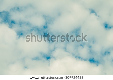 Beautiful clouds in the sky - stock photo