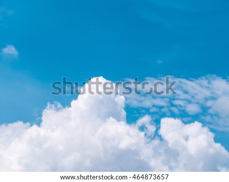 Beautiful clouds movement on the sky, white clouds background,