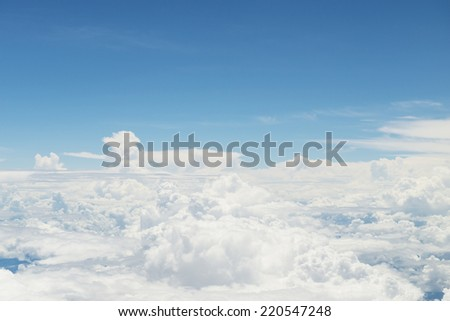 Beautiful clouds seen from above