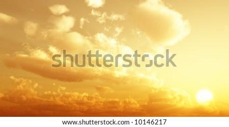 Beautiful cloudscape - stock photo