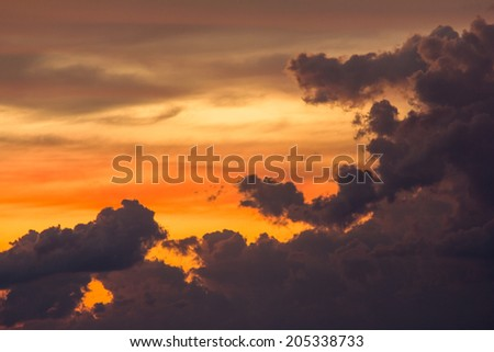 Beautiful cloudscape in a sky perspective