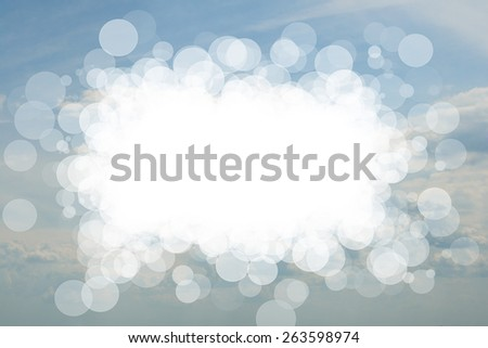 Beautiful cloudy sky and white frame . Skyscape . - stock photo