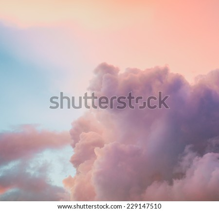 Beautiful cloudy sky background - stock photo