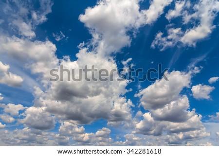 beautiful cloudy sky background - stock photo