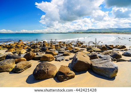 Beautiful coast in County Donegal, Ireland - stock photo