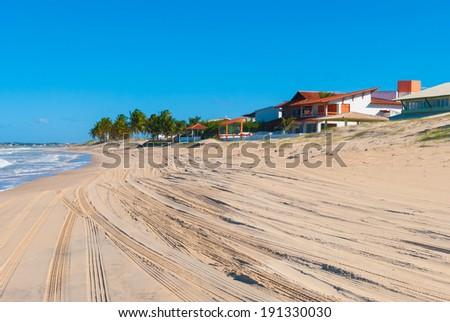 Beautiful coast in Natal, Brazil - stock photo