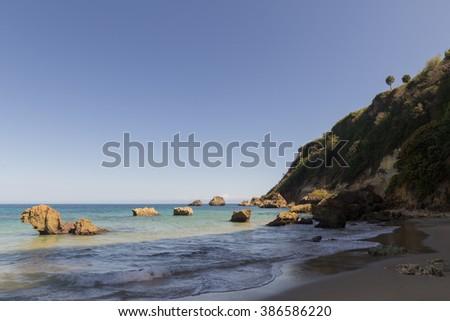 Beautiful coast of Aguadilla, Puerto Rico - stock photo