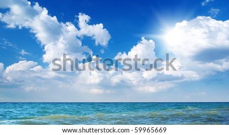 Beautiful coast of beach at day - stock photo