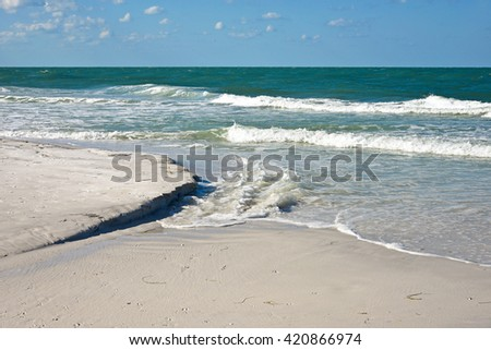 Beautiful Coastline of Anna Maria Island, Florida  - stock photo