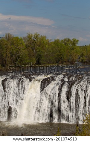 Beautiful Cohoes Falls in Cohoes NY