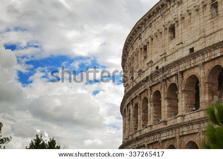 beautiful coliseum in the city of rome