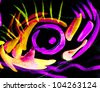 Beautiful color background paint illustration - stock photo