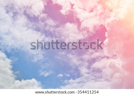 Beautiful color cloudy sky background - stock photo