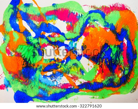 beautiful color of acrylic arts paint abstract on paper