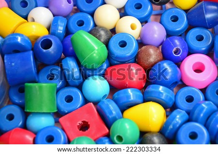 Beautiful color of plastic beads