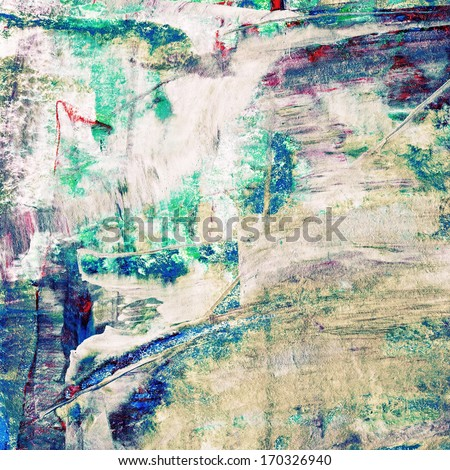 Beautiful colorful abstract oil painting - stock photo