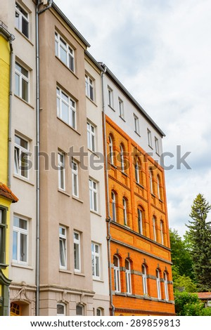 Beautiful colorful architecture of Eisenach, Thuringia, Germany
