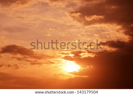 Beautiful colorful clouds and sky at sunset