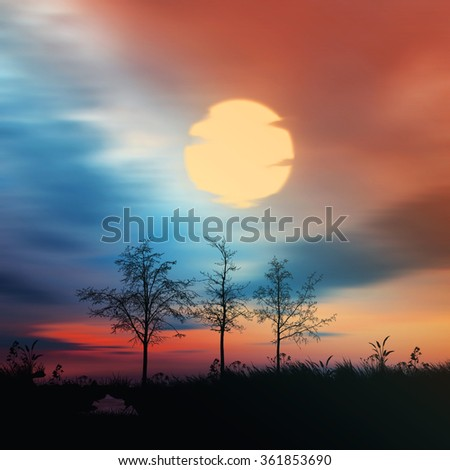 Beautiful colorful landscape. - stock photo