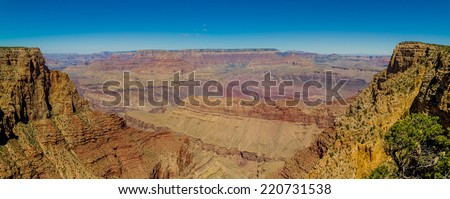 beautiful colorful landscape grand canyon national park arizona panorama - stock photo