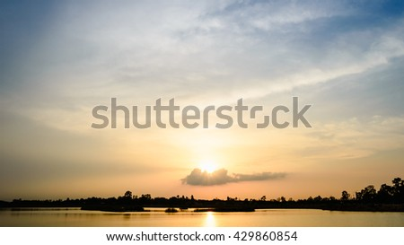 Beautiful colorful sky at sunset background