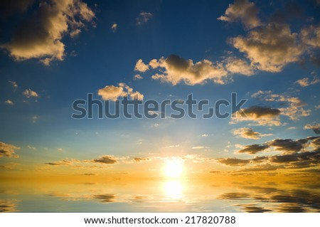 Beautiful colorful sky. Sky background. Element of design.