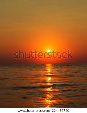Beautiful Colorful sunset above the sea