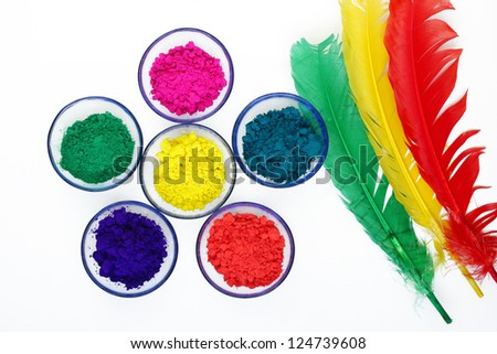 Beautiful colours of Gulal - stock photo