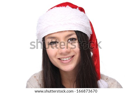 Beautiful commercial Christmas woman